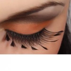 NEW Feathered Faux Lashes  - 62F Halloween ready